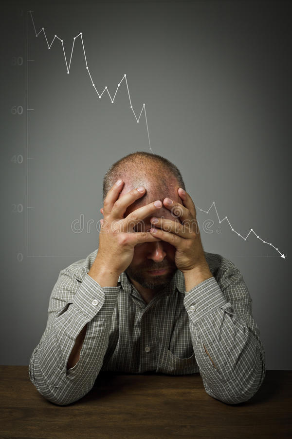 Download Man In Thoughts. Recession. Stock Image - Image: 33722219