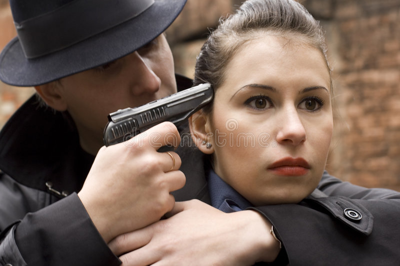Download Man Threatens The Woman Stock Image - Image: 6601561