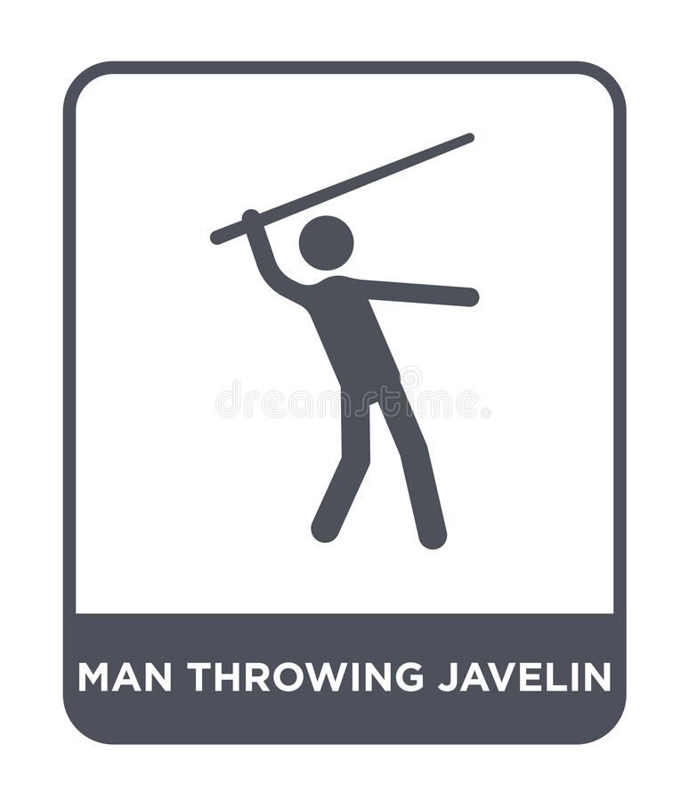 man throwing javelin icon in trendy design style. man throwing javelin icon isolated on white background. man throwing javelin royalty free illustration