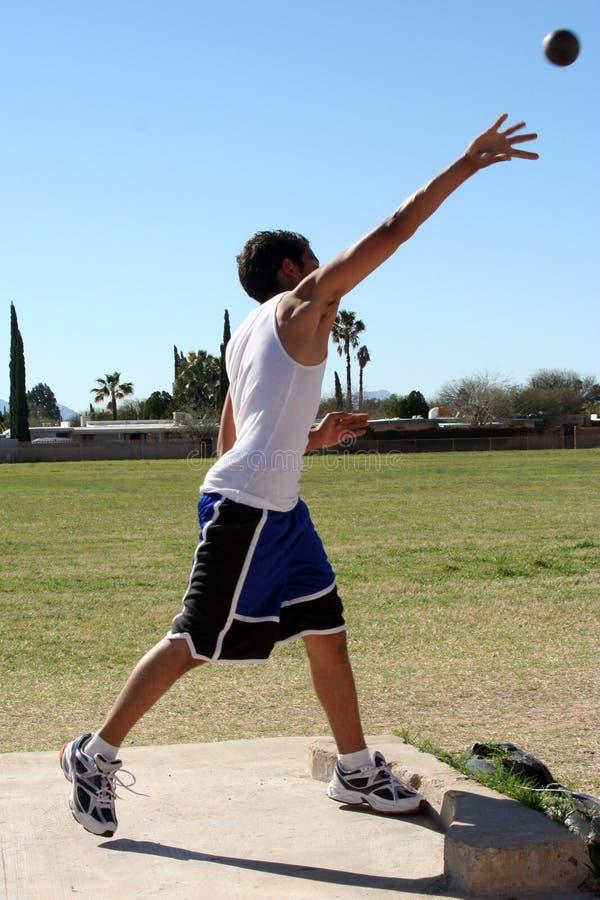 Download Man throwing shot put stock photo. Image of throw, stretch - 2136446