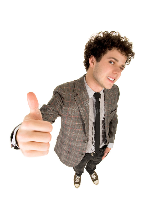 Download Man With Thumb Up stock photo. Image of length, gesture - 7070060
