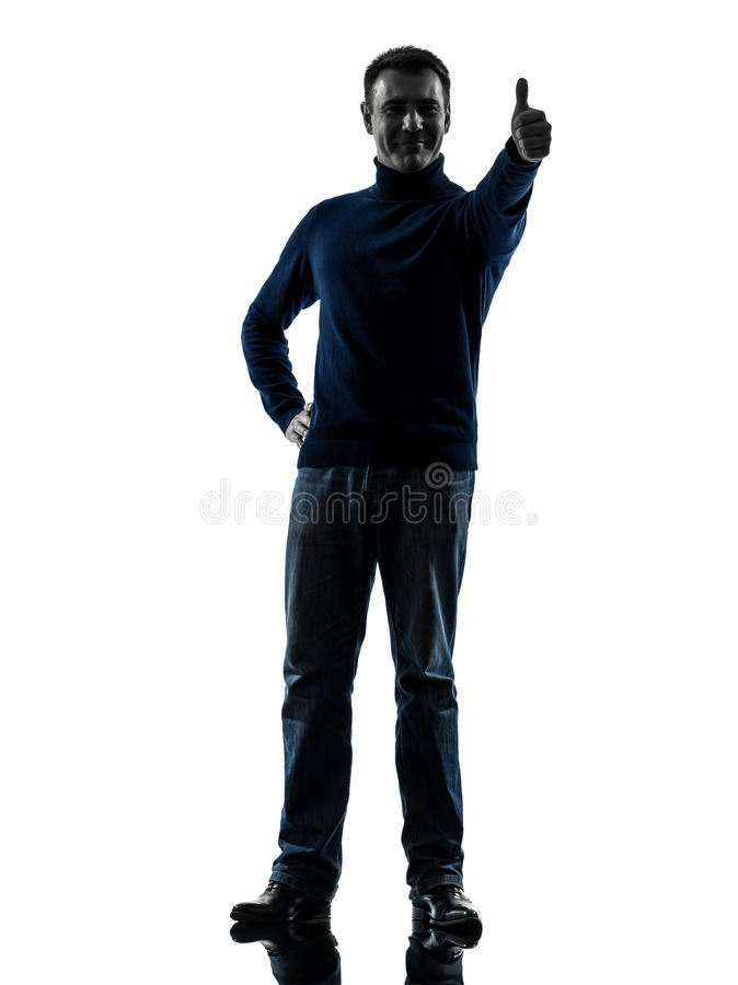 Man Thumb Up Silhouette Full Length Stock Images