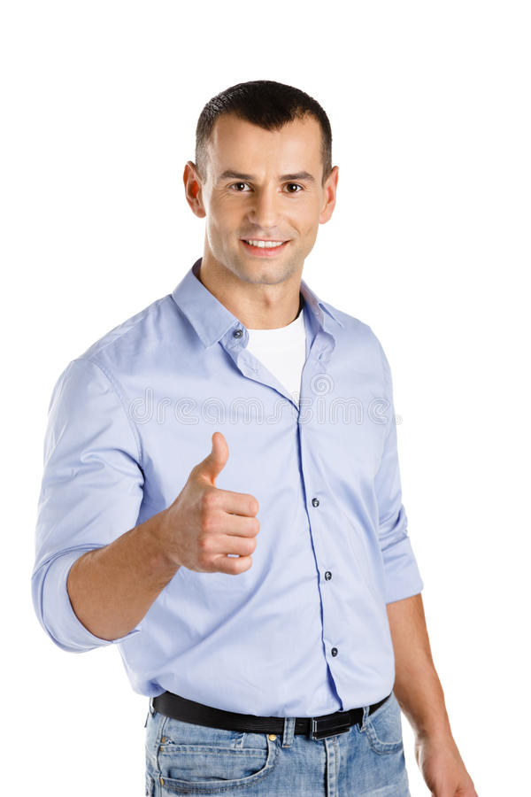 Download Man thumbs up stock photo. Image of cheer, commerce, career - 29104426