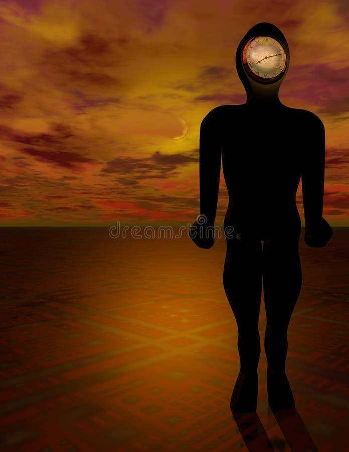 Download Man of Time stock illustration. Illustration of robot, regimentation - 101867