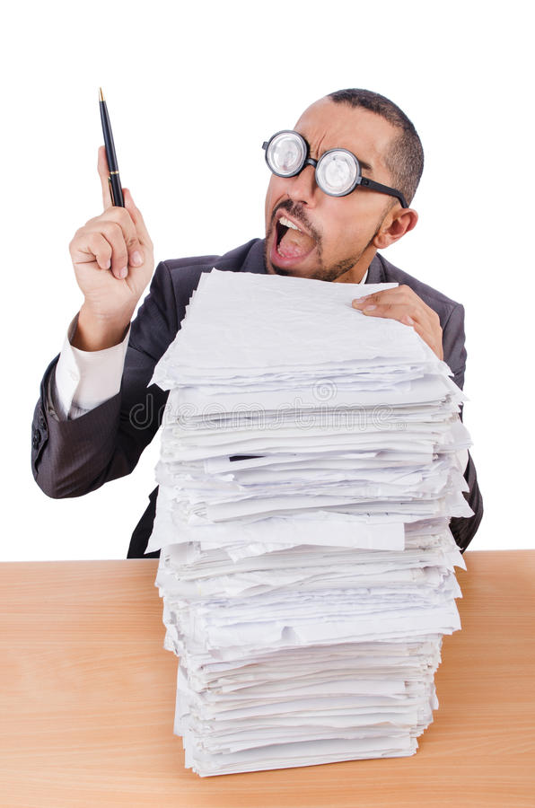 Download Man with too much work stock photo. Image of caucasian - 33494036