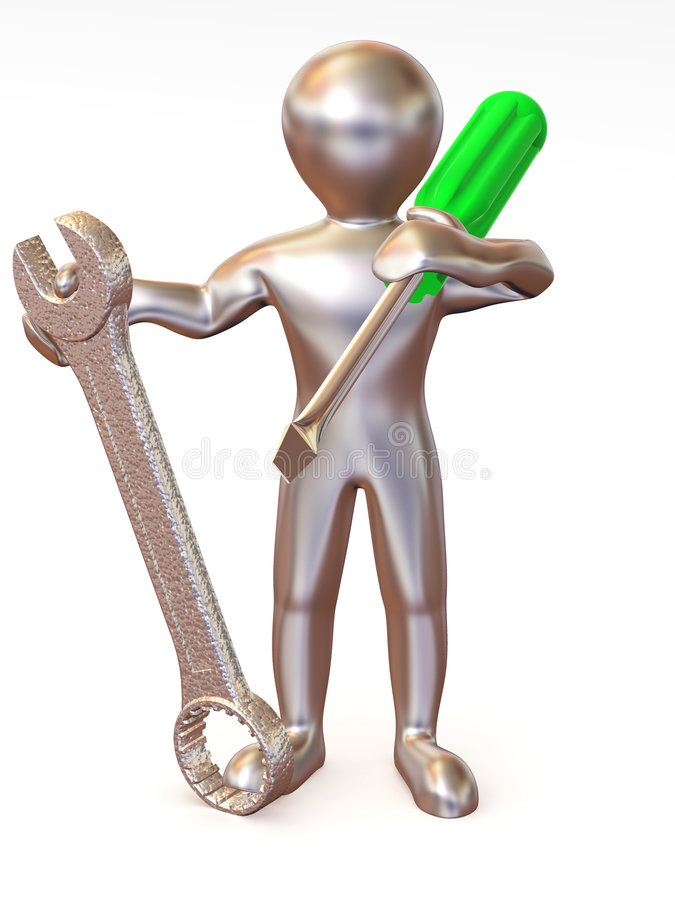 Download Man With Tools. Maintenance Stock Illustration - Image: 7172238