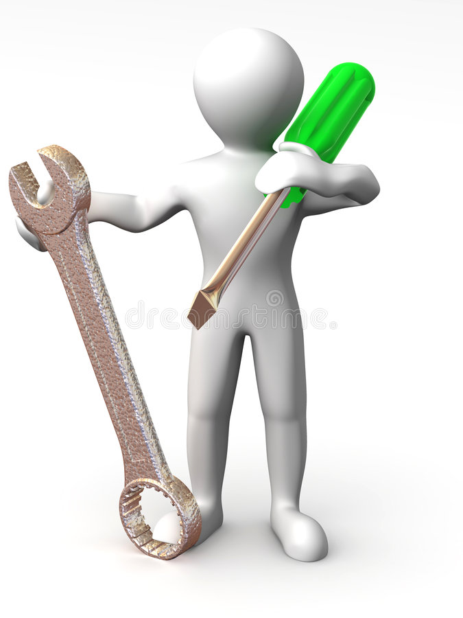 Download Man With Tools. Maintenance Stock Illustration - Image: 7351808