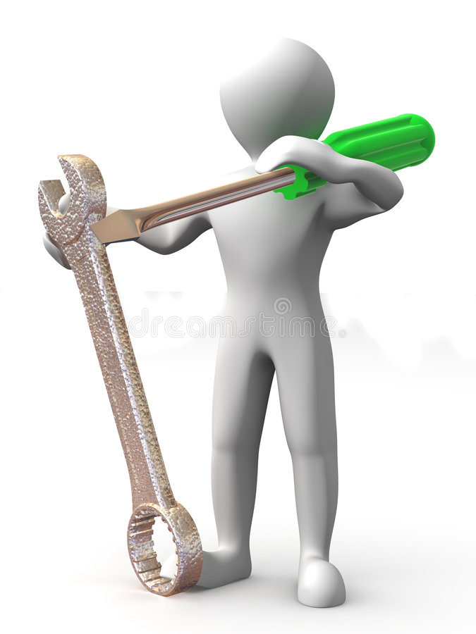 Download Man With Tools. Maintenance Royalty Free Stock Photos - Image: 7624888