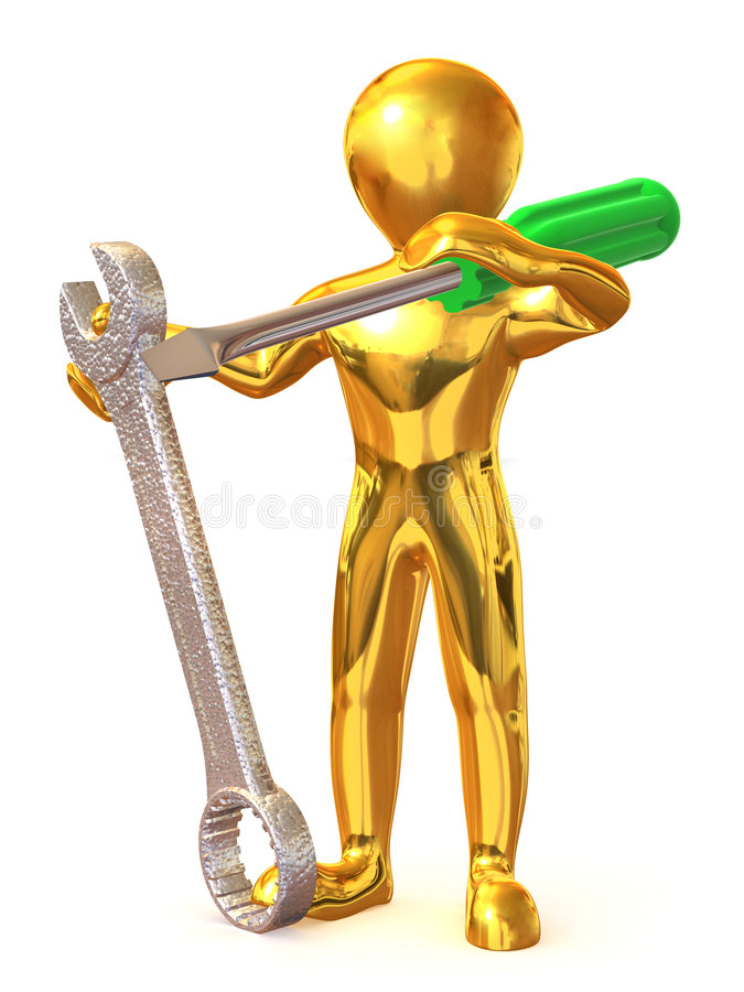Download Man With Tools. Maintenance Royalty Free Stock Photo - Image: 7700825