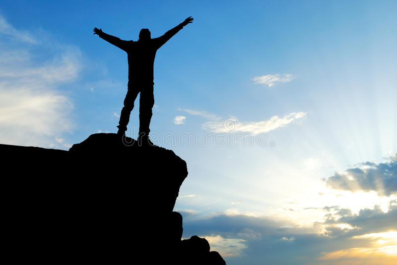 Download Man on top stock image. Image of peak, heaven, person - 15983567