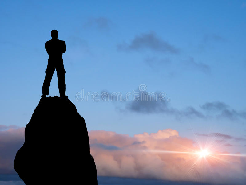 Man at the top royalty free stock photography