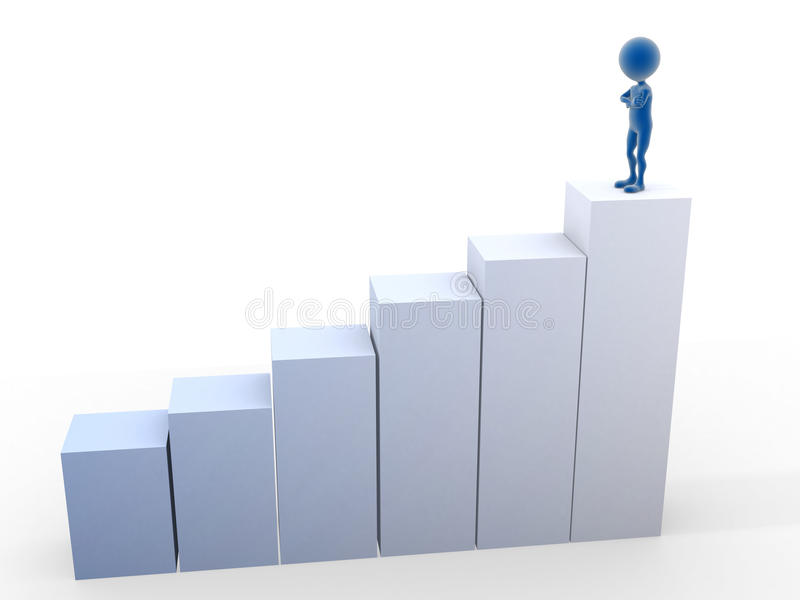Download Man In The Top Conceptual 3d Stock Illustration - Image: 23609862
