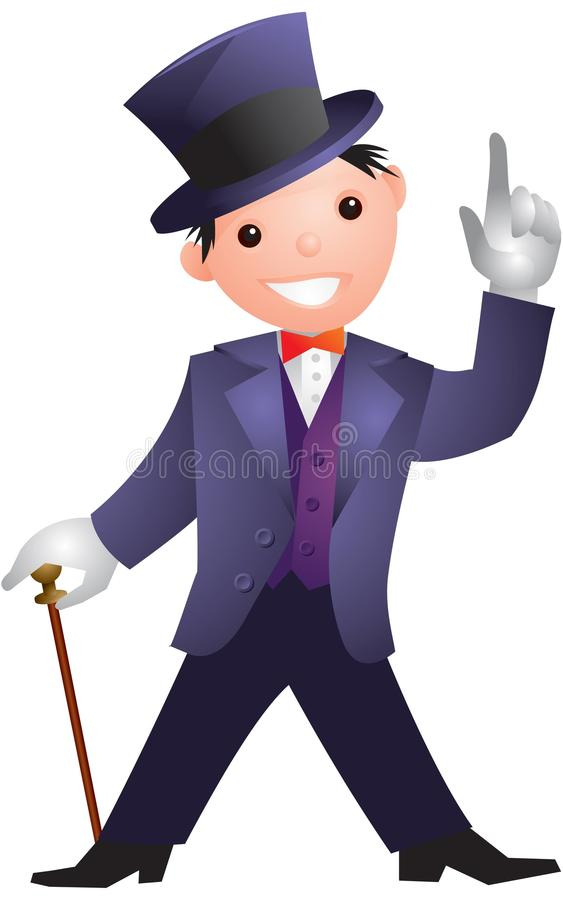 Man in a top hat royalty free illustration