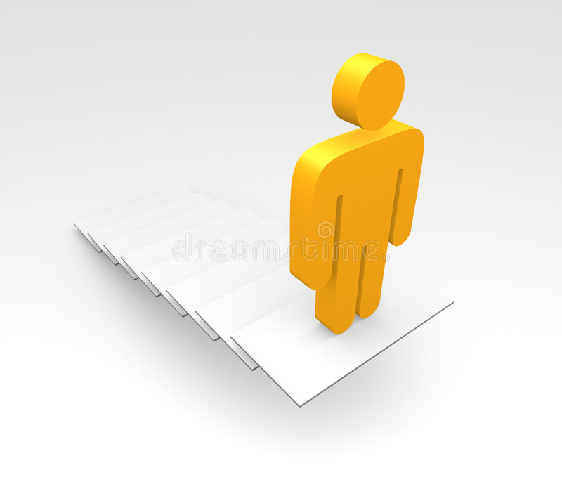 Download Man At Top Of Steps Or Stairs Stock Illustration - Image: 6550013