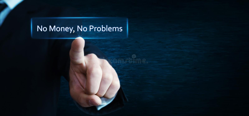 No money, no problems royalty free stock photo