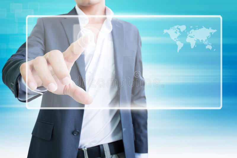 Download Man With Touchscreen stock illustration. Image of communication - 28648785