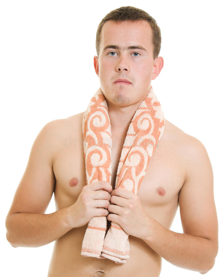 Download A man with a towel stock image. Image of expressing, handsome - 22569567