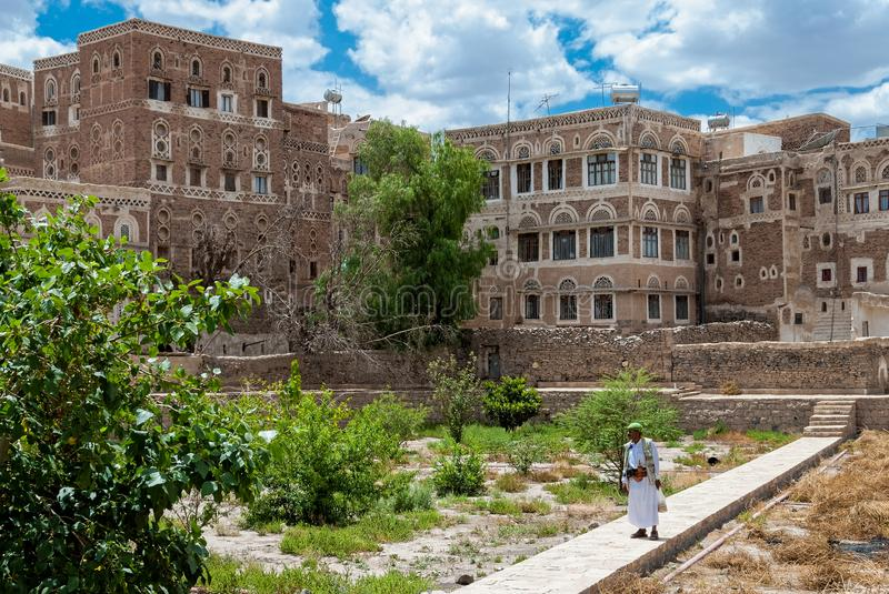 Buildings in Yemen stock images
