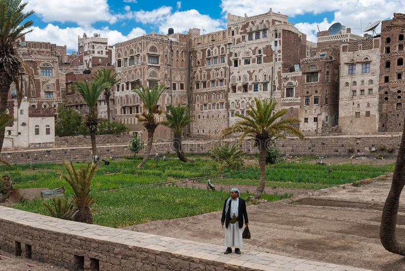 Cityscape in Yemen royalty free stock photos