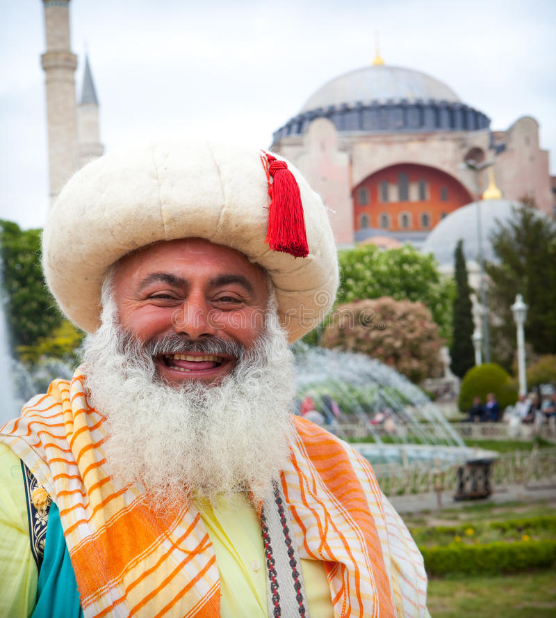 Man in traditional vintage Turkish costume stock photos