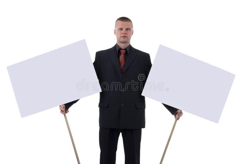 Man with transparencies. stock image