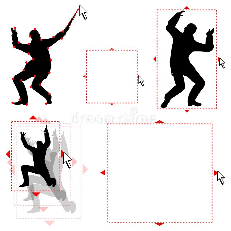 Download Man Trapped In Vector Land stock illustration. Illustration of curve - 4267513