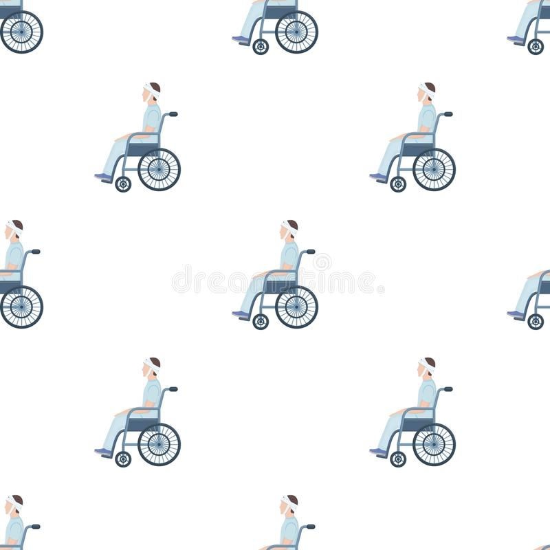 A Man With A Trauma In A Wheelchair Stock Vector Illustration Of