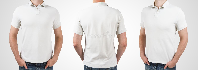 Man tre i t-skjorta arkivbilder