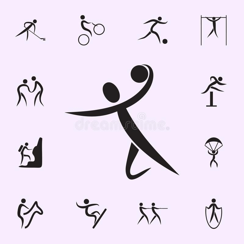 Man on the treadmill icon. Elements of sportsman icon. Premium quality graphic design icon. Signs and symbols collection icon for. Websites, web design, mobile royalty free illustration