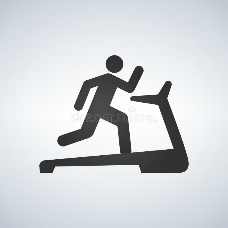 Man on treadmill Icon. Illustration on white background stock illustration