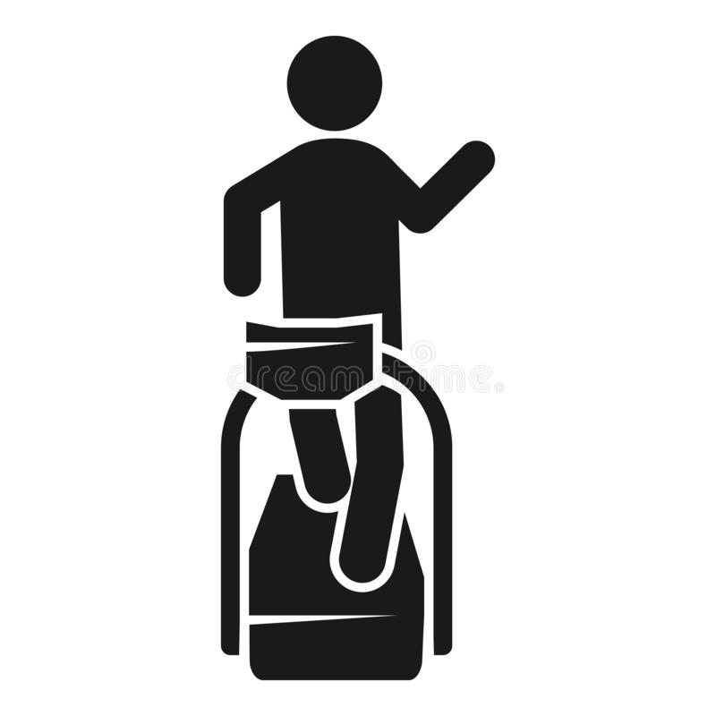 Man treadmill icon, simple style. Man treadmill icon. Simple illustration of man treadmill vector icon for web design isolated on white background vector illustration