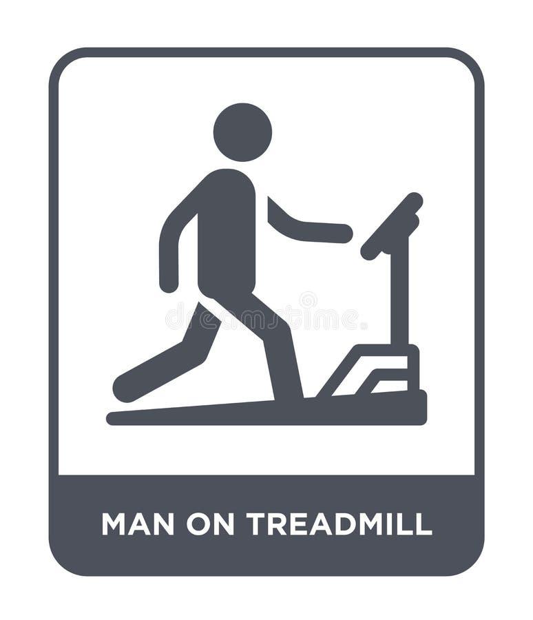 Man on treadmill icon in trendy design style. man on treadmill icon isolated on white background. man on treadmill vector icon. Simple and modern flat symbol stock illustration