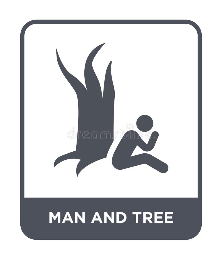 man and tree icon in trendy design style. man and tree icon isolated on white background. man and tree vector icon simple and stock illustration