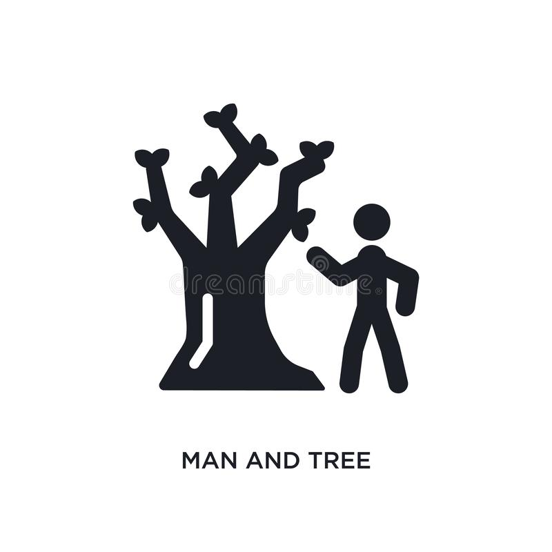 man and tree isolated icon. simple element illustration from ultimate glyphicons concept icons. man and tree editable logo sign royalty free illustration