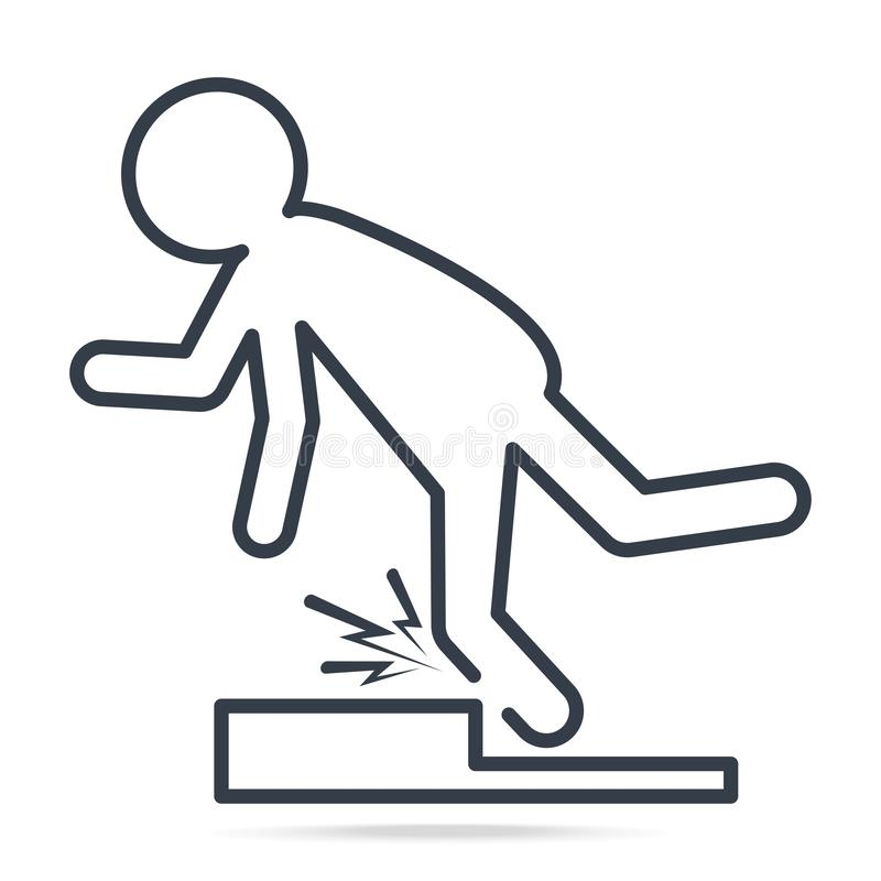 Man Tripping Over On Floor Icon, People Injury Symbol Stock Vector -  Illustration of simple, injury: 137588154