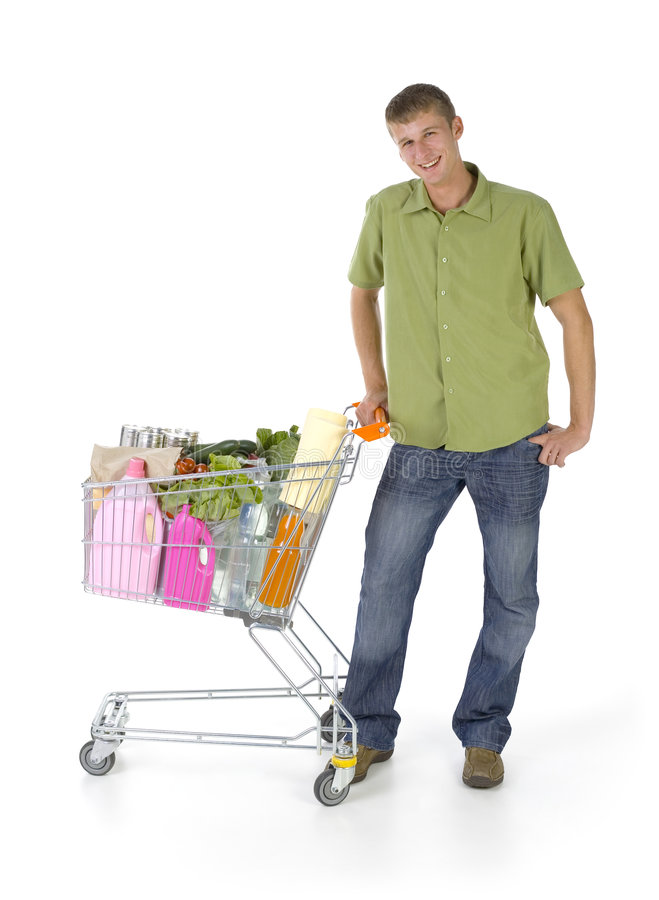 Download Man With Trolley Royalty Free Stock Photos - Image: 2917978