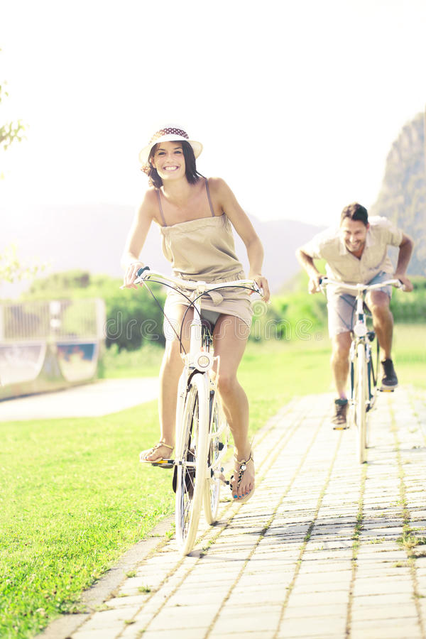 Free Man Trying To Fill The Gap To Her Girlfriend To Conquer Her Heart Stock Image - 41683031