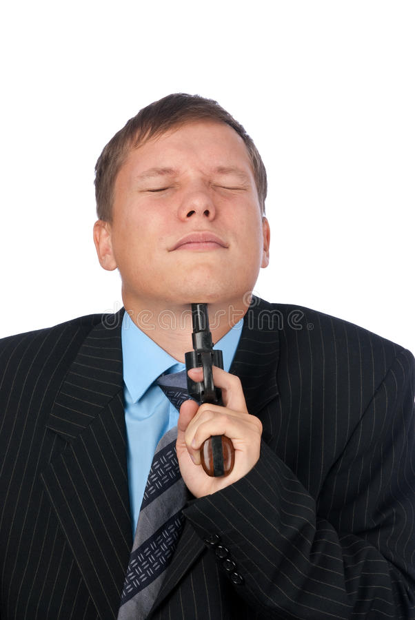Man trying to suicide stock photos