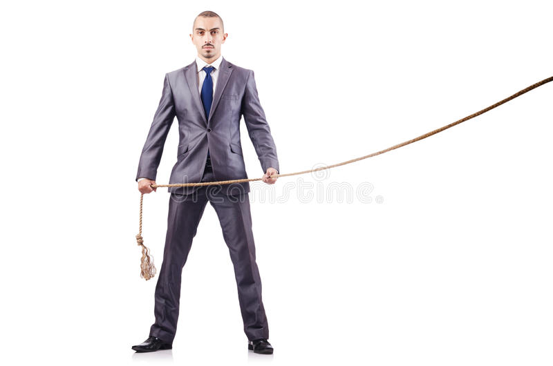 Download Man In Tug Of War Concept Royalty Free Stock Photos - Image: 29210018