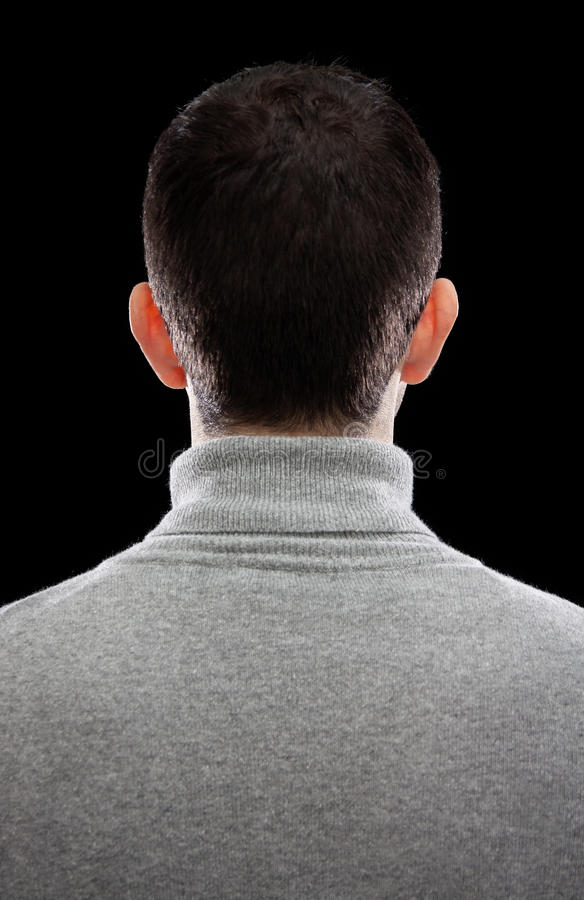 Man turning his back royalty free stock photo