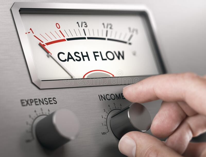 Cash Flow Crisis Concept. Risk of insolvency royalty free stock photography