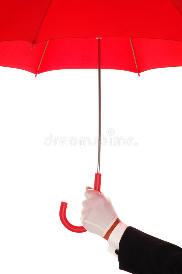 Download Man In Tuxedo With Red Umbrella Stock Image - Image: 5055857