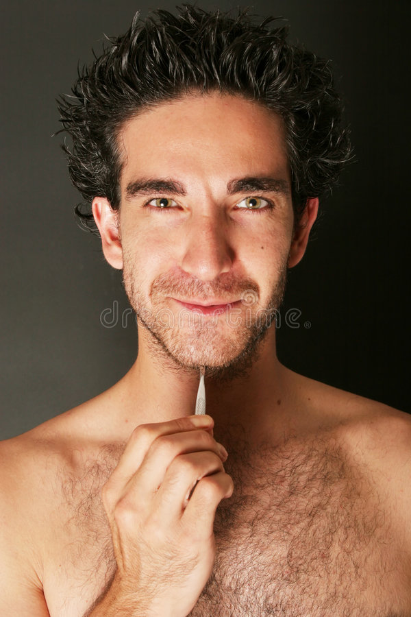 Download Man With Tweezers Royalty Free Stock Images - Image: 2305749