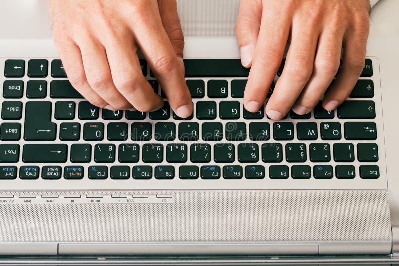 Download Man Typing Computer Keyboard Royalty Free Stock Photography - Image: 12169817