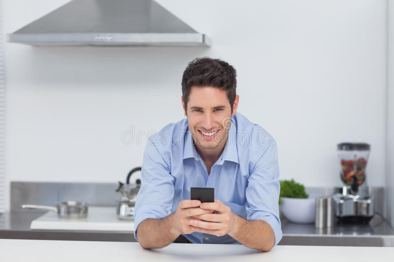 Download Man Typing On His Smartphone Stock Image - Image: 33052181