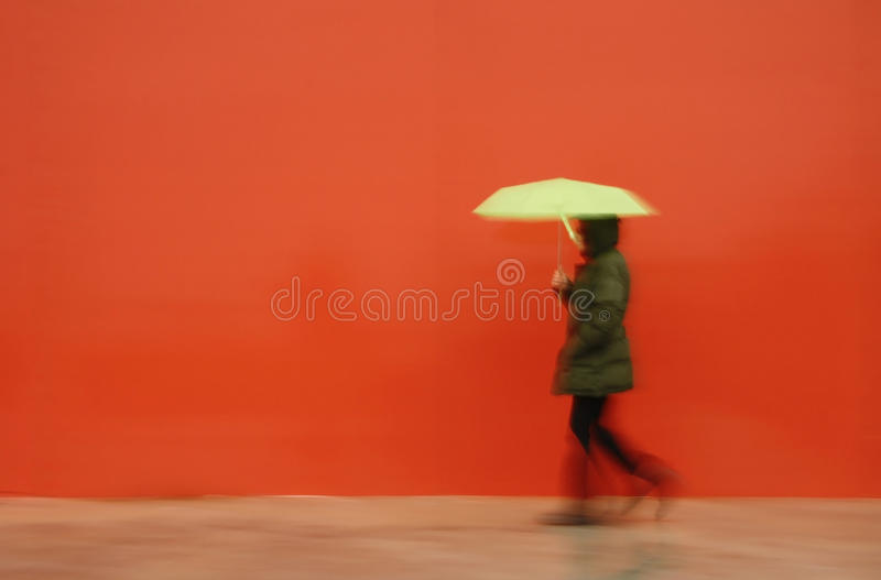 Man With Umbrella Stock Photo