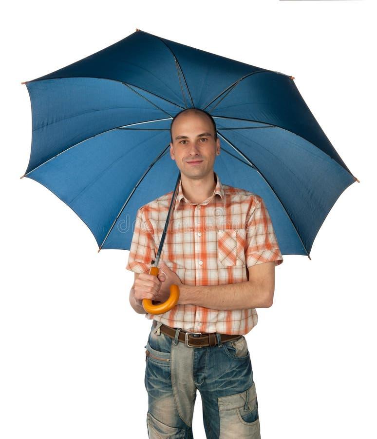 Man Under An Umbrella Royalty Free Stock Photo