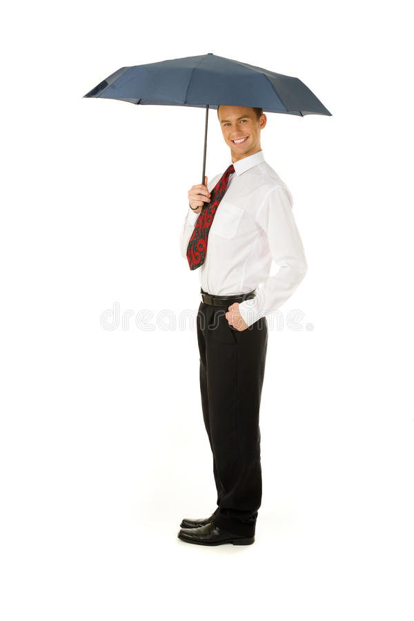 Download Man under the umbrella stock image. Image of people, person - 25515065