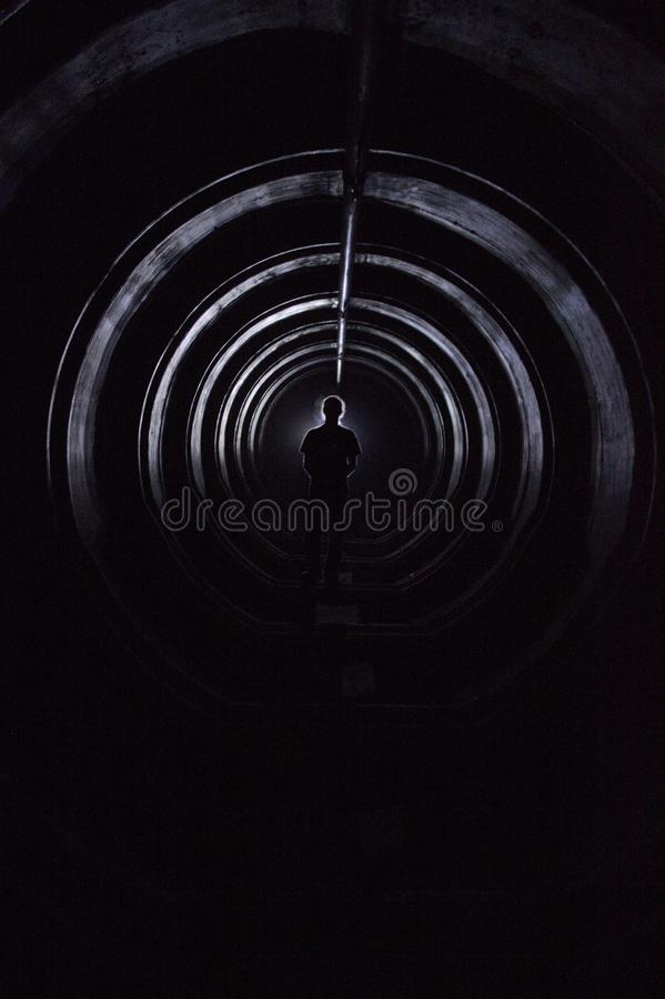 Download Man in underground stock image. Image of shadow, tank - 40124733