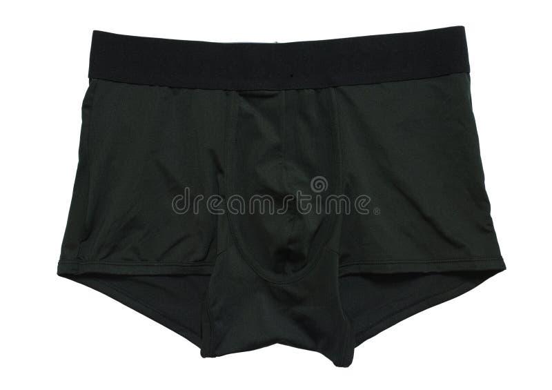 Man underwear boxer brief color black royalty free stock images